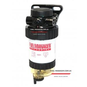 Фильтр-сепаратор дизельного топлива в сборе Stanadyne 44760 Fuel Manager FM100 с чашей сбора воды (5 микрон)